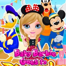 Baby Barbie goes to Disneyland