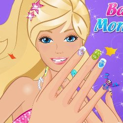 Barbie Like Monster Nail