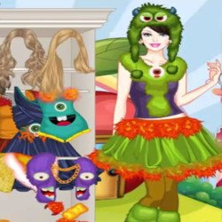 Barbie Monster Outfits Dress Up