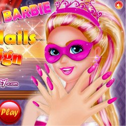 Super Barbie Nail Design