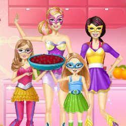 Super Barbie Family Cooking Berry Pie