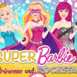 Super Barbie Princess and Rockstar