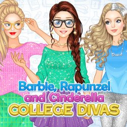 Barbie, Rapunzel and Cinderella College Divas